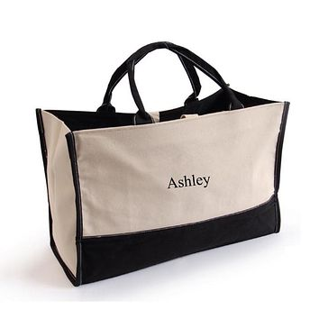 Personalized Canvas Tote Bag Free Embroidery Customized