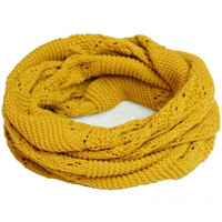 Yellow Cut-outs Scarf