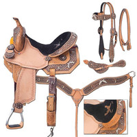 Saddles Tack Horse Supplies - ChickSaddlery.com Silver Royal Pistol Annie 5 Pc Barrel Saddle Set