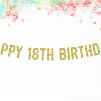 Happy 18th Birthday Party Banner
