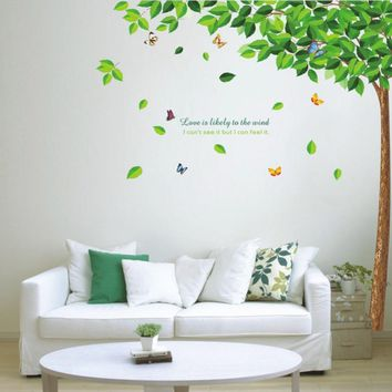 Green Tree Vinyl Removable Wall Stickers DIY PVC Decal for Nursery Living room Bedroom Wall Decoration