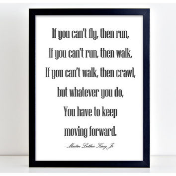 If You Can't Run - Motivational Poster Word Art Print Kitchen Quote Motivation Famous Wall Sign Letters Home Decor  PP35