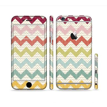 The Vintage Summer Colored Chevron V4 Sectioned Skin Series for the Apple iPhone 6