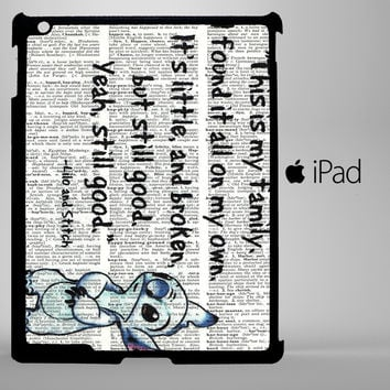 Disney Lilo And Stitch Quote iPad 2, iPad 3, iPad 4, iPad Mini and iPad Air Cases - iPad