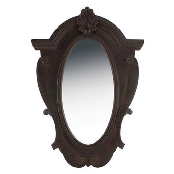 Shayne Ornate Wood Mirror ~ Black