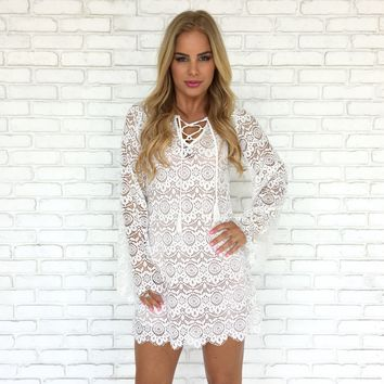 Belize Lace Dress in White