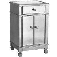 Hayworth Bedside Chest - Silver