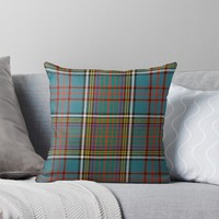 'ANDERSON ANCIENT TARTAN' Throw Pillow by planetterra