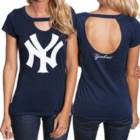 New York Yankees Ladies Cutout Tee | SportyThreads.com