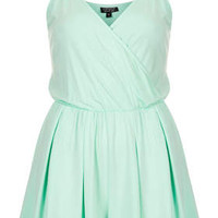 Wrap Jersey Playsuit - Mint