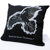 The Raven by Edgar Allan Poe Pillow Cover