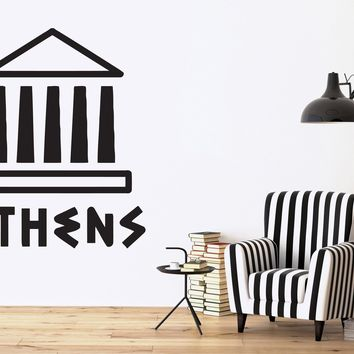 Vinyl Decal Antiquities Wall Stickers Athens Acropolis Parthenon Sights Ancient Greece Unique Gift (n402)