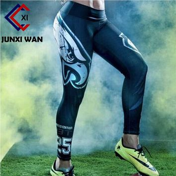 WWome Eagle 3D Printed Workout Fitness Slim Sport Yoga Pants Carry Buttock High Waist Tights Gym Running Sport Leggings WA00734