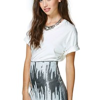 Nasty Gal Ice Frequency Sequin Skirt