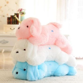 50CM Creative toy Cute Inductive dog nightlight plush toy LED glow pillow soft light up stuff toy dog pet quality