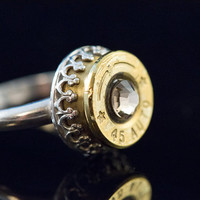"""Bullet Ammo 45mm Sterling Silver ladies7-""""Smokin Gun"""" Free U.S. and Canadian Shipping"""