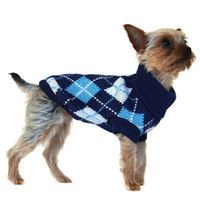Blue Argyle Sweater   Image 3   Chihuahua Clothes and Accessories at the Famous Chihuahua Store!