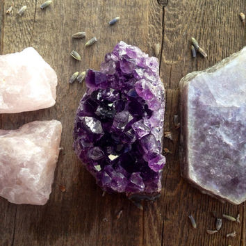 Creativity and Inspiration Crystal Set Raw Amethyst Crystal Healing Crystals snd Stones Raw Crystals Bohemian Decor Spiritual Healing Gift