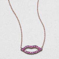 Pink Sapphire Kiss Necklace