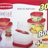 Rubbermaid Easy Find Lids 24 Piece Container Set with 6 Bonus Pieces