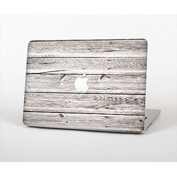 "The Aged White Wood Planks Skin Set for the Apple MacBook Pro 15"" with Retina Display"