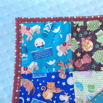 Baby Boy Nursery Rhyme Quilt