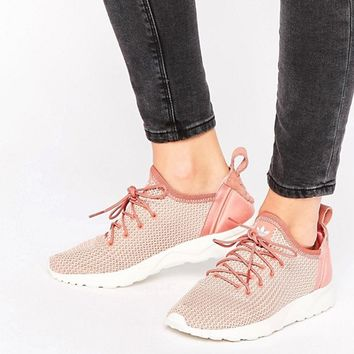 adidas Originals Dusky Pink Zx Flux Adv Sneakers at asos.com