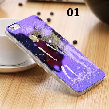 2017 New Soft TPU Glitter Case For iPhone 7 6 6s 6 Plus 5 5s Cute Blue Light Silicon Back Cover Ultra Thin Blue Ray Case For iPhone 6 6s -0328