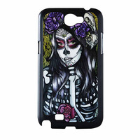 Floral Sugar Skull Day Of The Dead Samsung Galaxy Note 2 Case