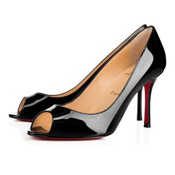 Christian Louboutin Cl Yootish Black Patent Leather 16w Pumps 3160715bk01 - Best Online Sale