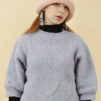 Limited Edition: Oversize Chunky Glitter Knit Jumper Lilac