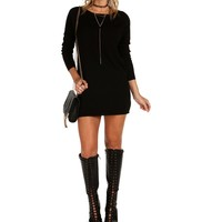 Sale-black Cozy Sweater Tunic