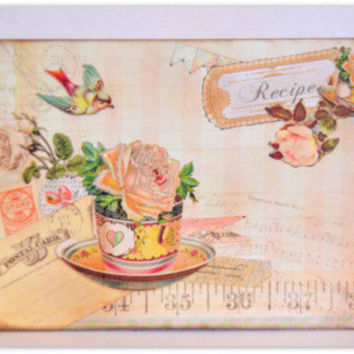 Thinking of You, Just Because Vintage Inspired Handmade Greeting Card, One of a Kind, Tea Time, Victorian