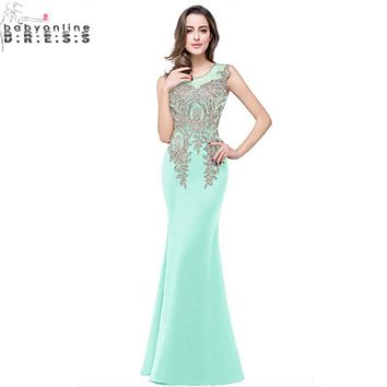Robe Demoiselle D'honneur Mint Green Lavender Lace Mermaid Bridesmaid Dresses 2017 12 Colors Cheap Long Wedding Party Dress