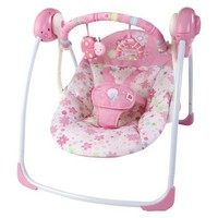 Bright Starts Pretty in Pink Blossomy Blooms Portable Swing