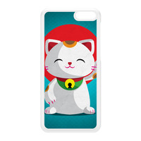 Kawaii Maneki Neko White Hard Plastic Case for Amazon Fire Phone by DevilleArt