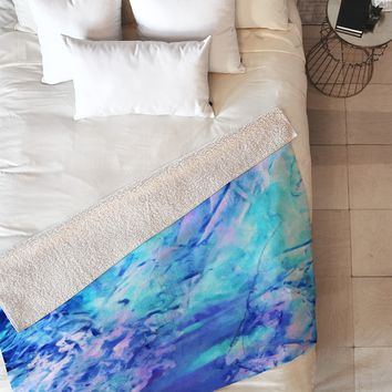 Rosie Brown Ocean Bottom Fleece Throw Blanket