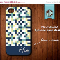 20% OFF SALE Personalized iPhone Case - Plastic or Silicone Rubber Monogram iPhone 4 4S Case Cover - K098