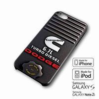 Dodge Cummins Turbo Diesel iPhone case 4/4s, 5S, 5C, 6, 6 +, Samsung Galaxy case S3, S4, S5, Galaxy Note Case 2,3,4, iPod Touch case 4th, 5th, HTC One Case M7/M8
