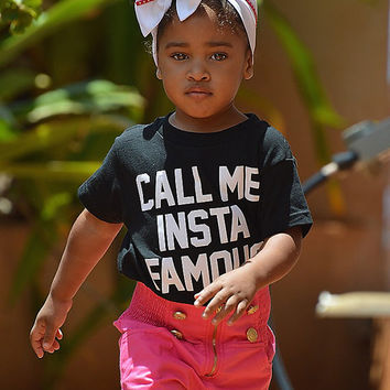 Call Me Insta Famous Tee, Baby Shower Gift, Baby Girl Clothes, Baby Clothes Girl, Cute Baby Gifts, Black and White Top