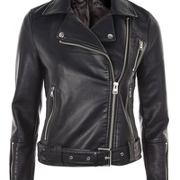 Faux Leather Biker Jacket | Topshop