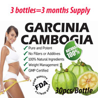 90 Caps for 3 months USE! Garcinia cambogia weight loss diet supplement Burn Fat ( 60% HCA ) Slimming for women