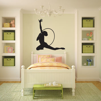 Rhythmic Gymnast Gymnastics Vinyl Wall Words Decal Sticker Graphic