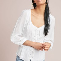Lisette Lace-Up Blouse