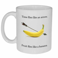 Time flies like an arrow Coffee or Tea mug