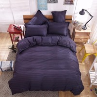 Unihome twin Full Queen size duvet cover set reactive printed bed linen flat sheet bedclothes not quilt