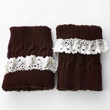 Cupshe Show Up Lace Knitting Boot Cuffs