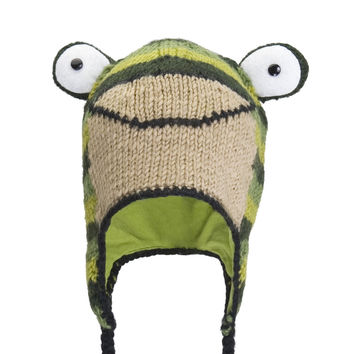 Ferny The Frog Kids Peruvian Knit Hat