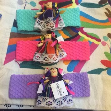 Girls Headband with Mini Mexican Doll