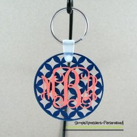Personalized Monogrammed Acrylic Keychain- Your Choice of Patterns from SimpleXpressions-Personalized!